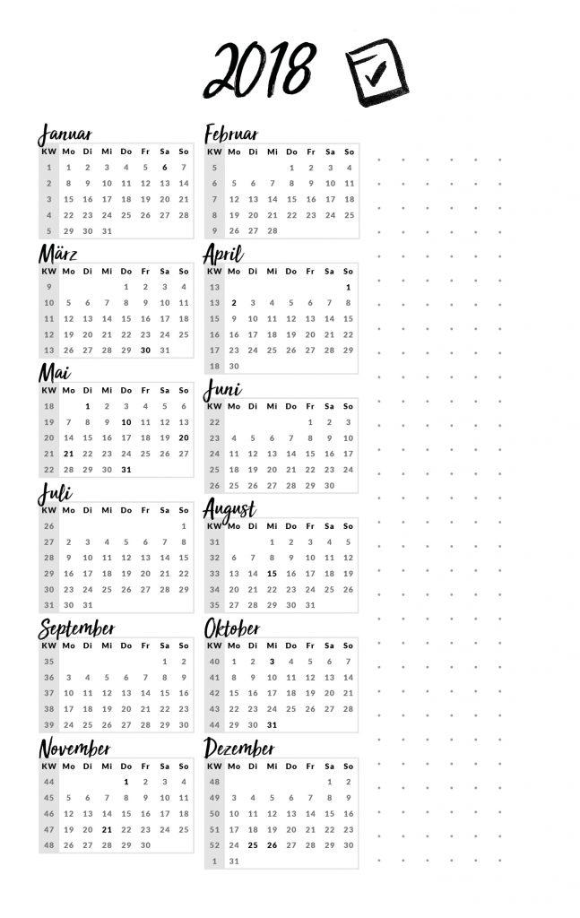 kalender 2018 Sissi nur was ich mag hau rein planer
